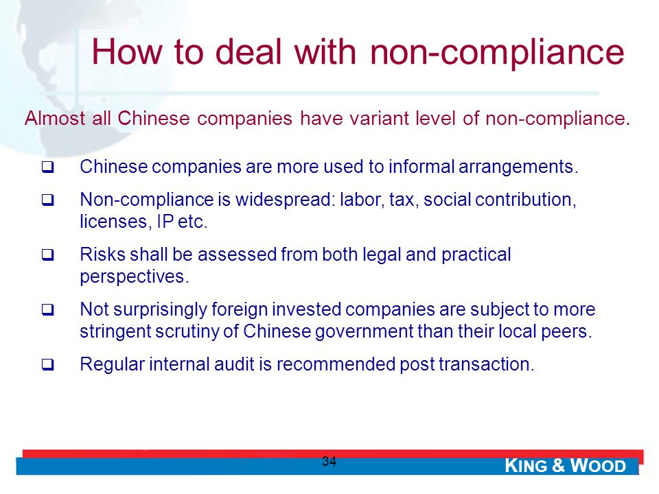 How to deal with non-compliance