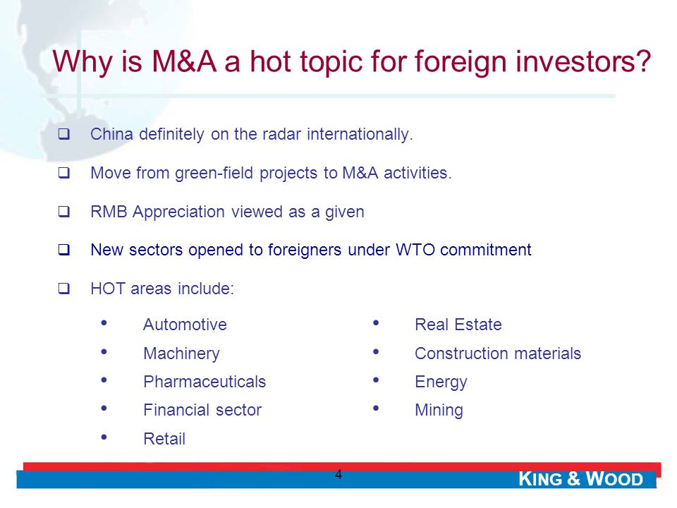 Why is M&A a hot topic for foreign investors