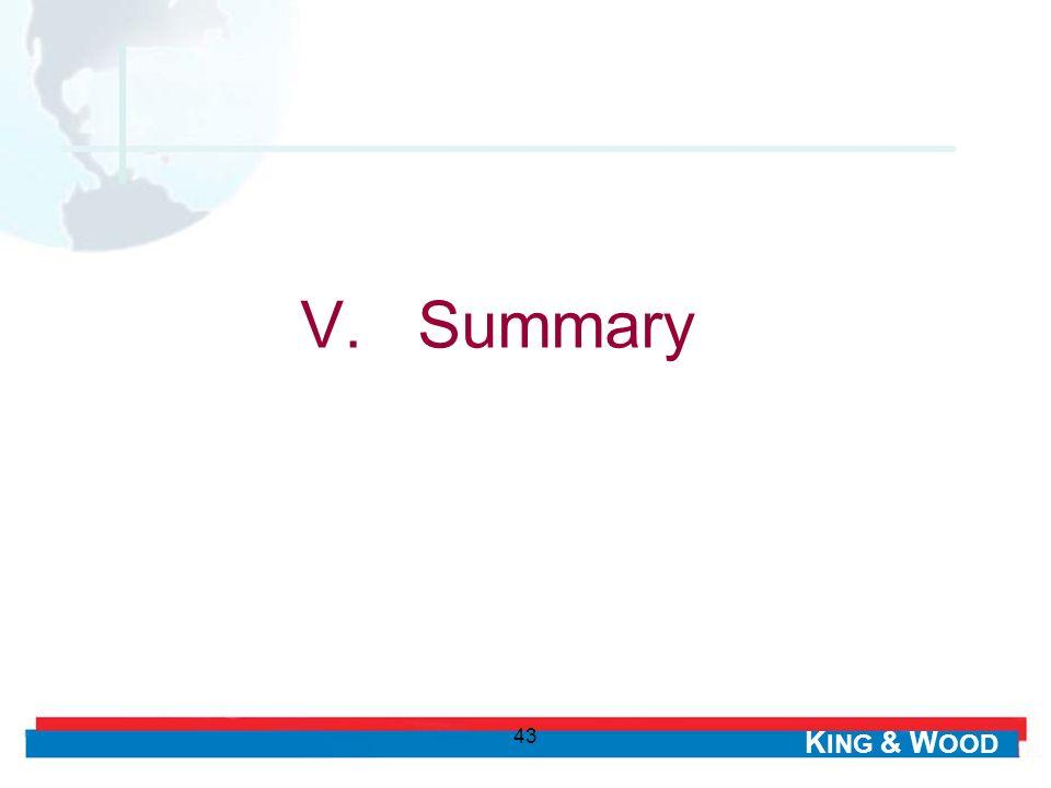 V. Summary 43