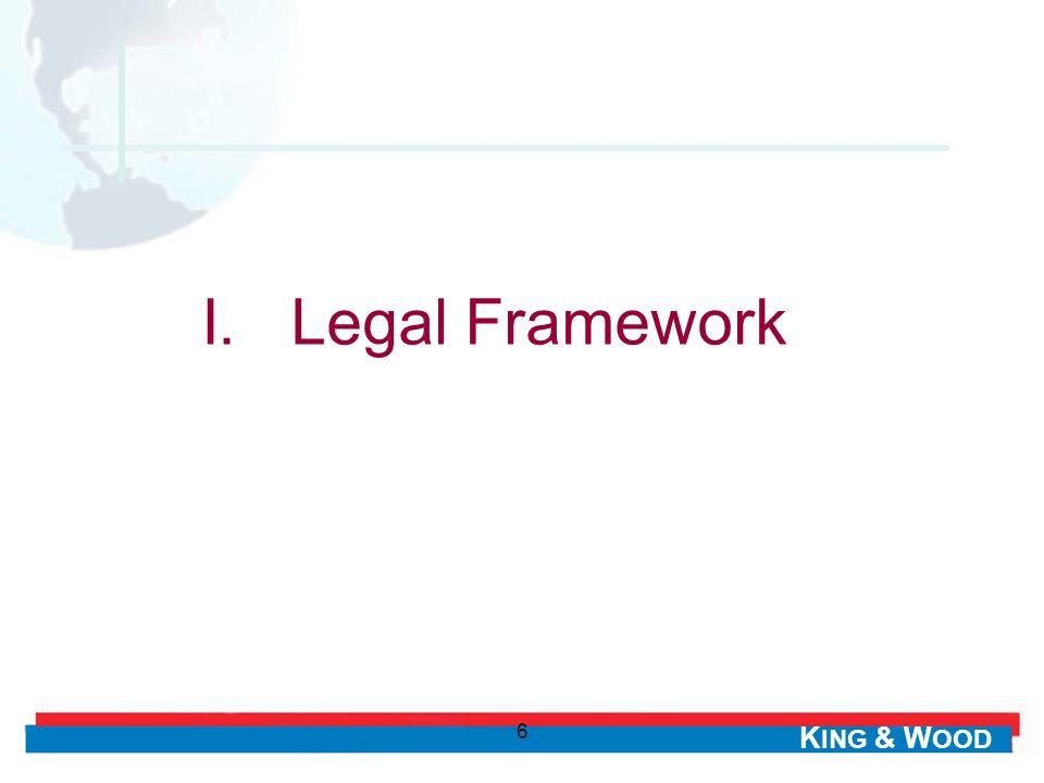 I. Legal Framework 6