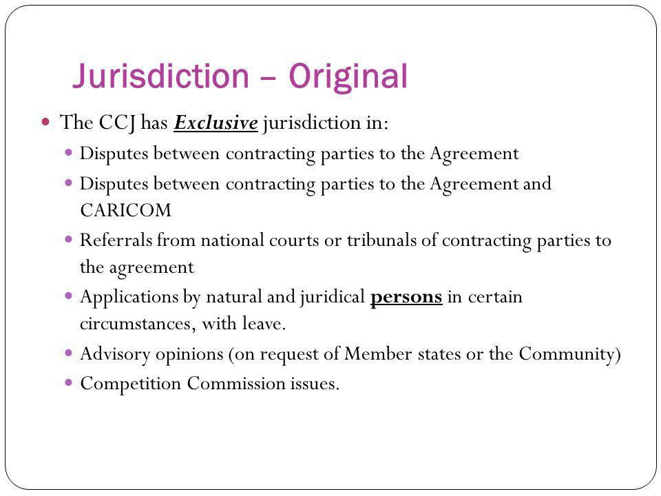 Jurisdiction – Original