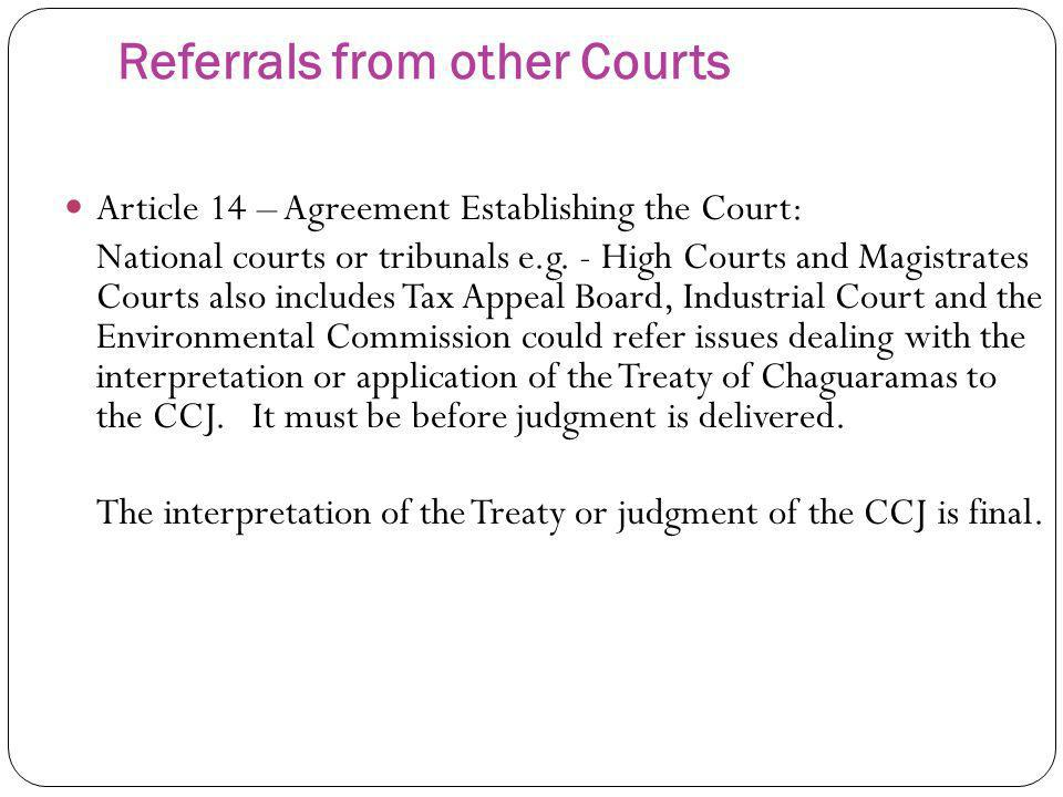 Referrals from other Courts