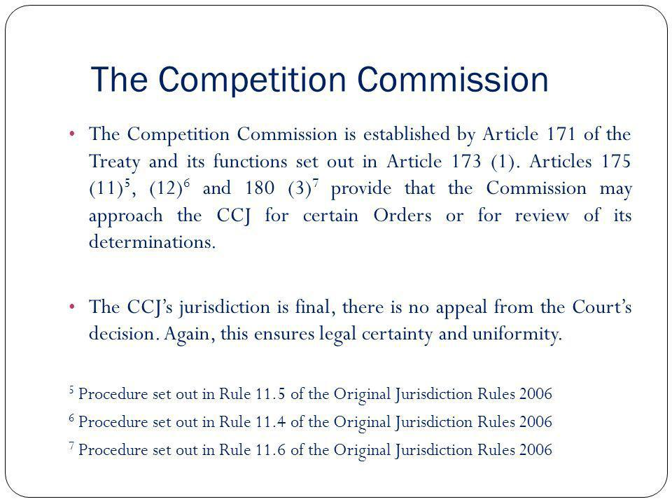 The Competition Commission