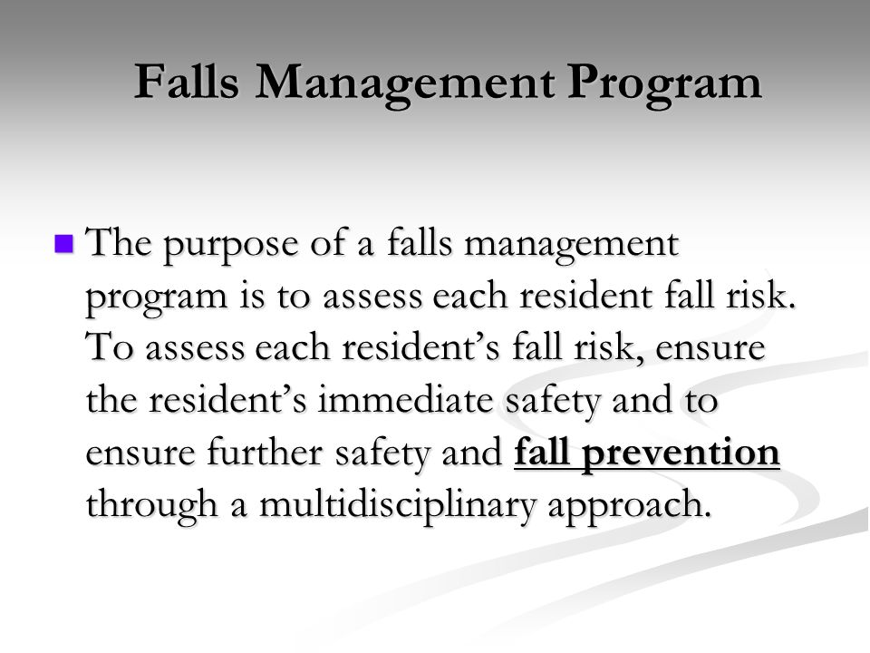 Falls Management Program