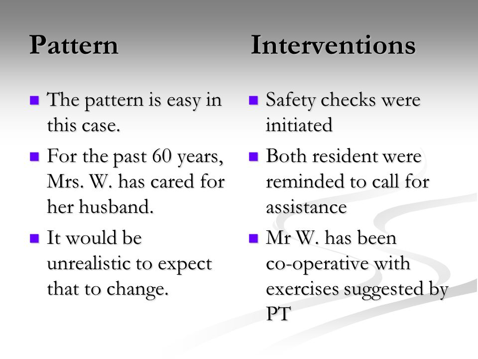 Pattern Interventions