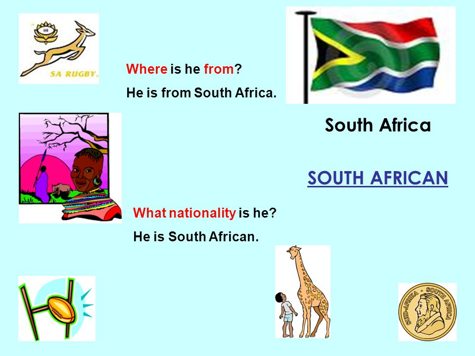 South Africa SOUTH AFRICAN