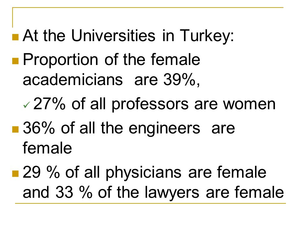 At the Universities in Turkey: