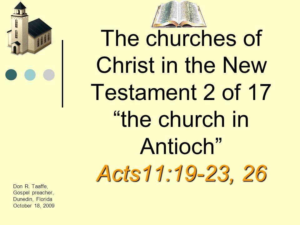 Don R. Taaffe, Gospel preacher, Dunedin, Florida October 18, 2009