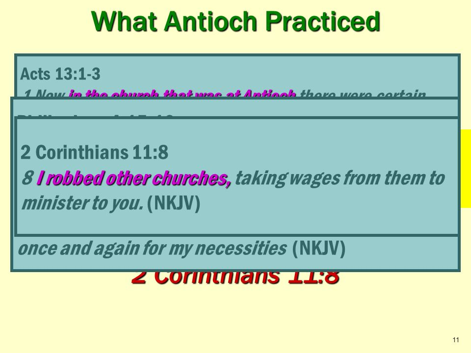 EDIFICATION What Antioch Practiced Acts 13:1-3; Philippians 4:15-16