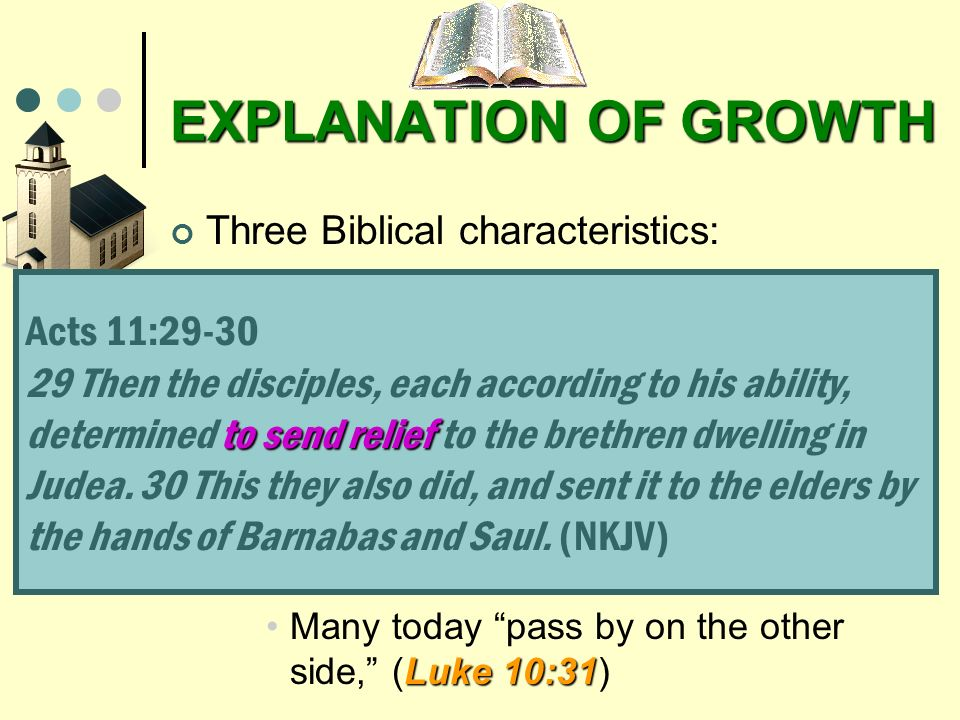 EXPLANATION OF GROWTH Acts 11:29-30