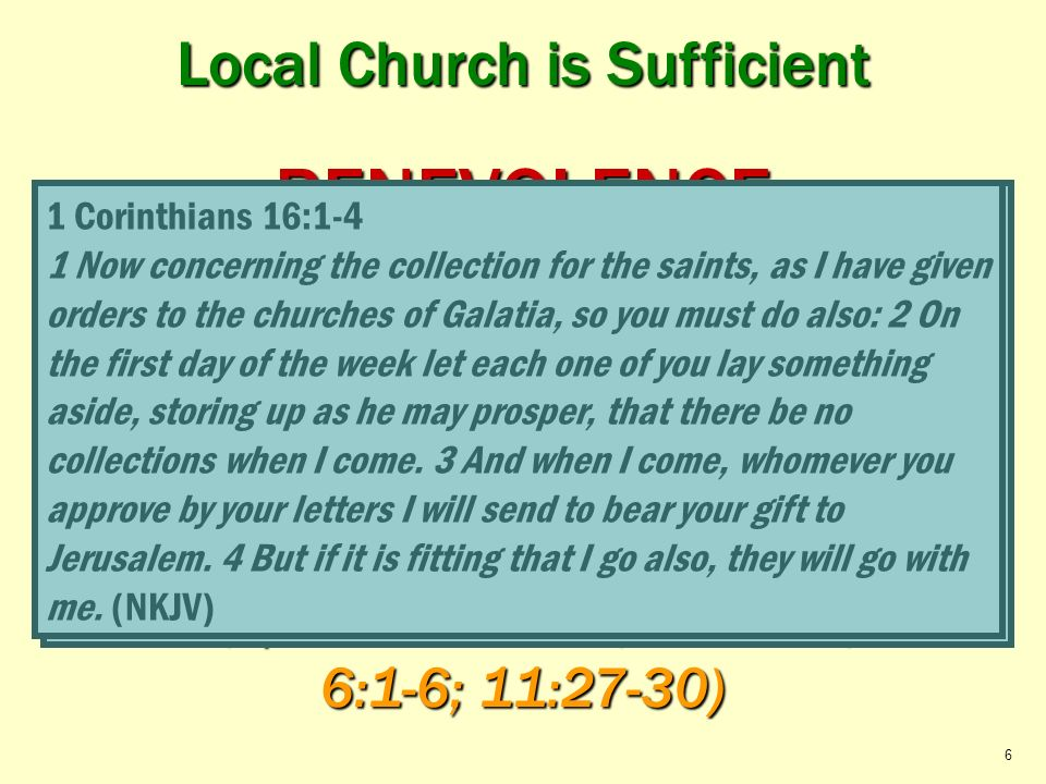 Local Church is Sufficient