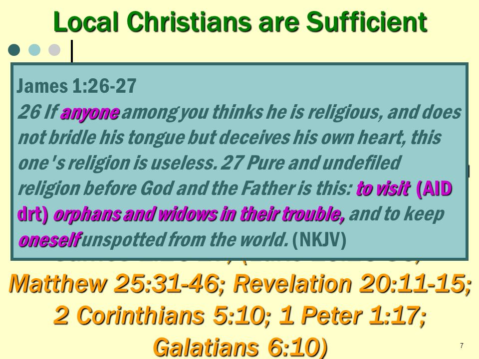 Local Christians are Sufficient