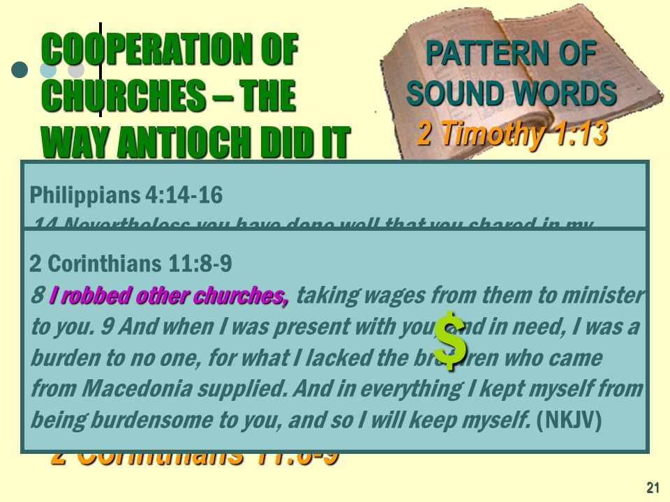 COOPERATION OF CHURCHES – THE WAY ANTIOCH DID IT