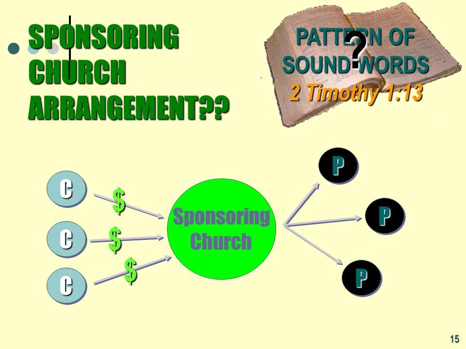 SPONSORING CHURCH ARRANGEMENT