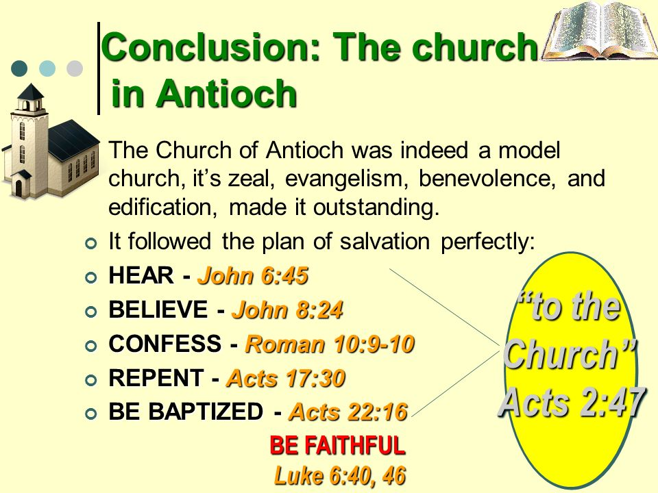 Conclusion: The church in Antioch