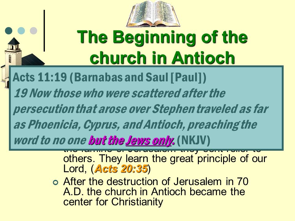 The Beginning of the church in Antioch