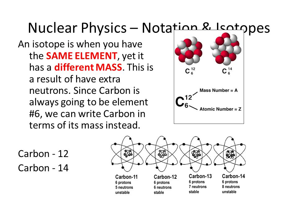 Nuclear Physics – Notation & Isotopes