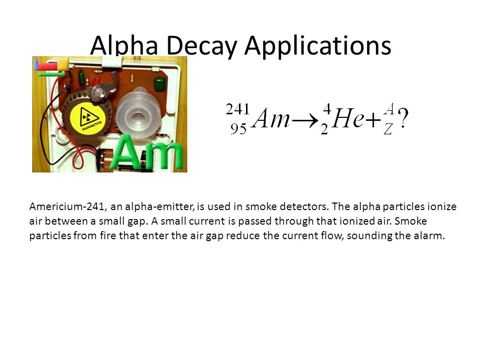 Alpha Decay Applications