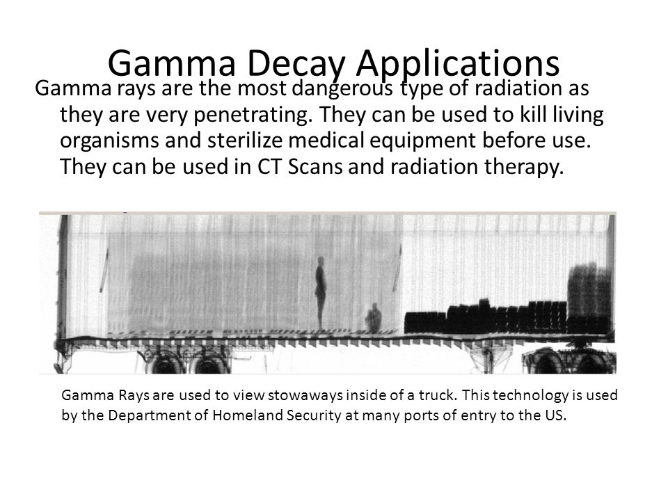 Gamma Decay Applications