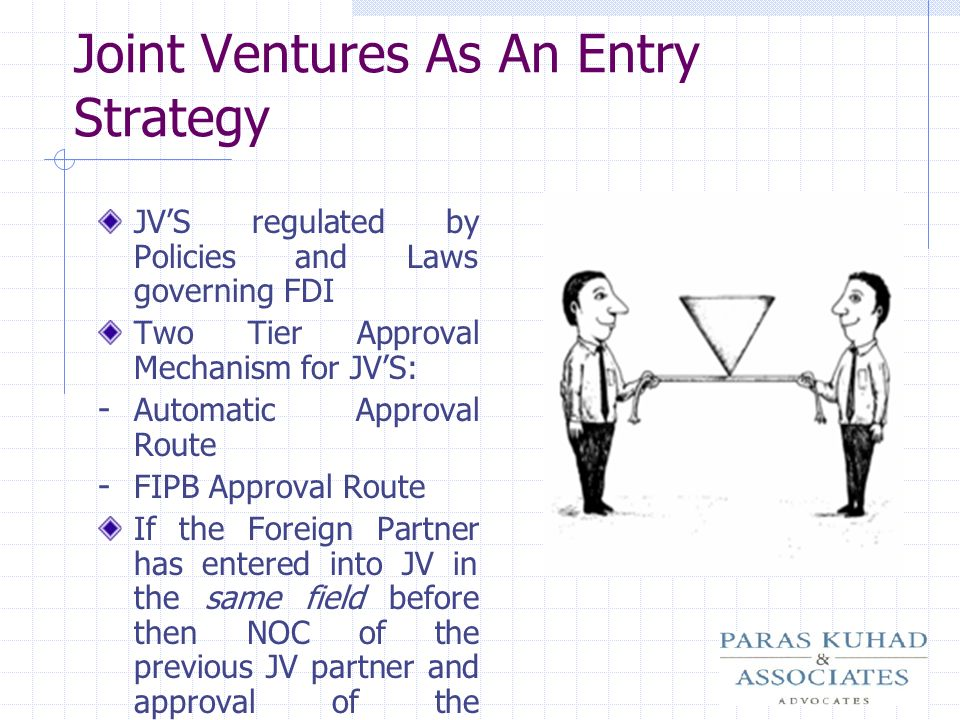 Joint Ventures As An Entry Strategy