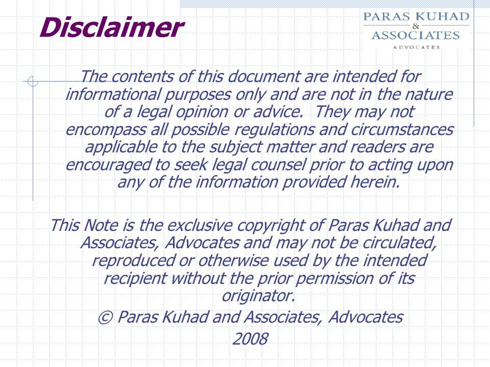 © Paras Kuhad and Associates, Advocates