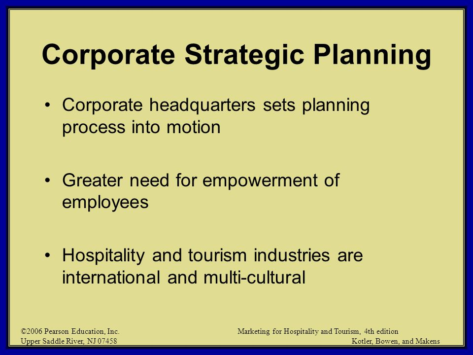 Corporate Strategic Planning