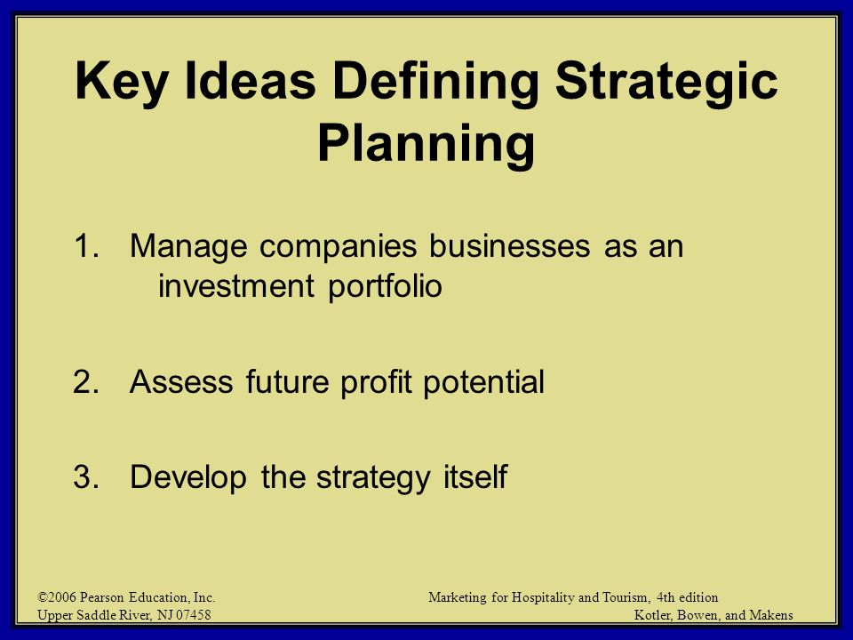 Key Ideas Defining Strategic Planning
