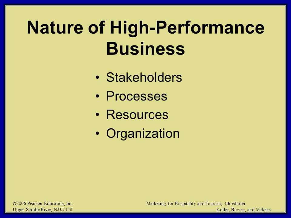 Nature of High-Performance Business