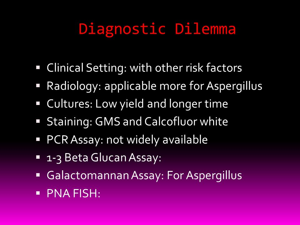 Diagnostic Dilemma Clinical Setting: with other risk factors
