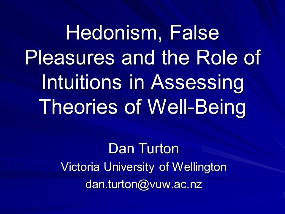 Dan Turton Victoria University of Wellington dan.turton@vuw.ac.nz