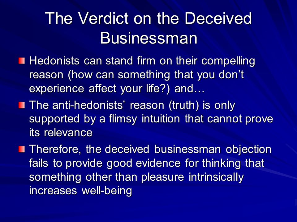 The Verdict on the Deceived Businessman
