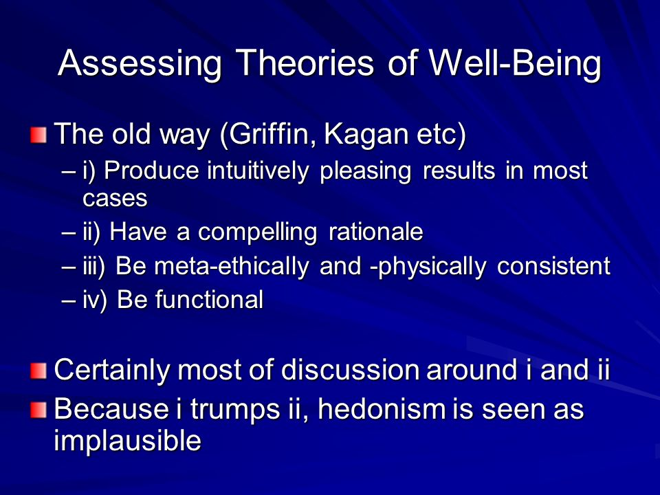 Assessing Theories of Well-Being