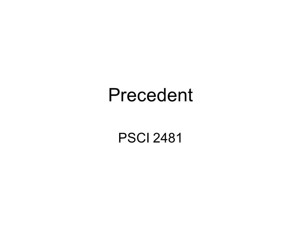 Precedent PSCI 2481