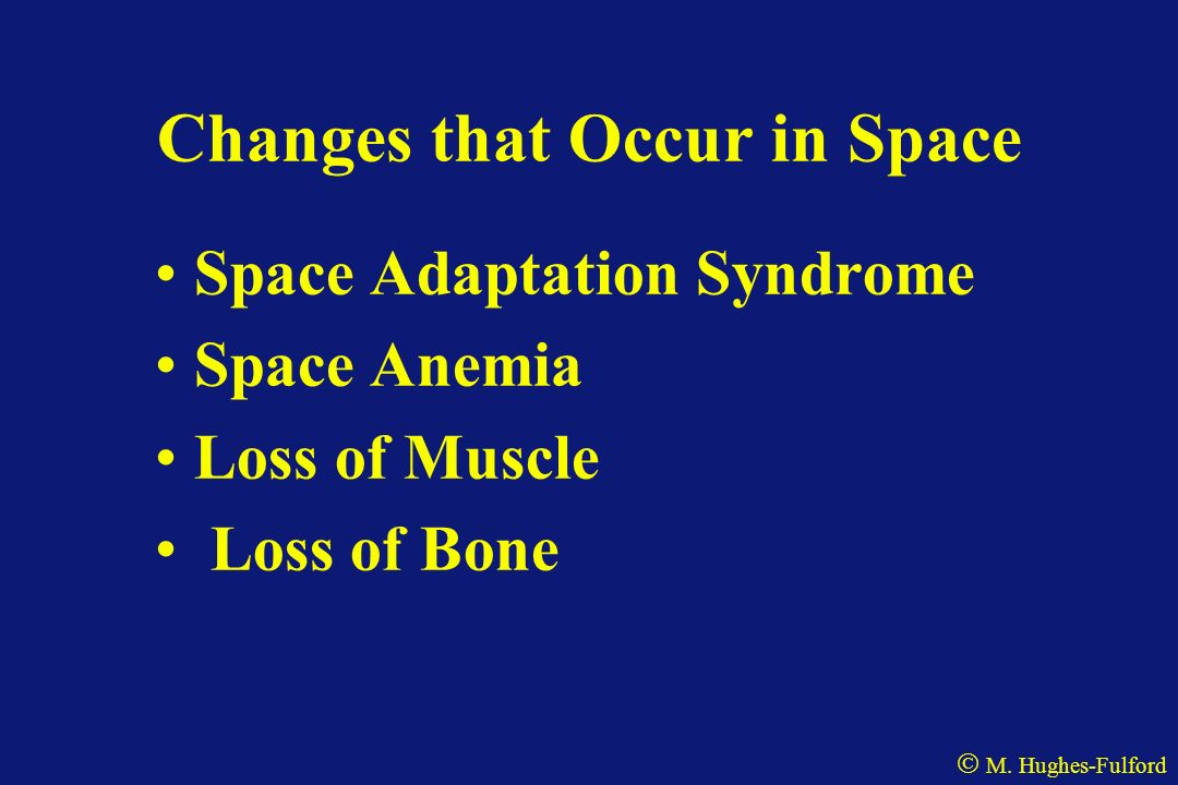 Changes that Occur in Space