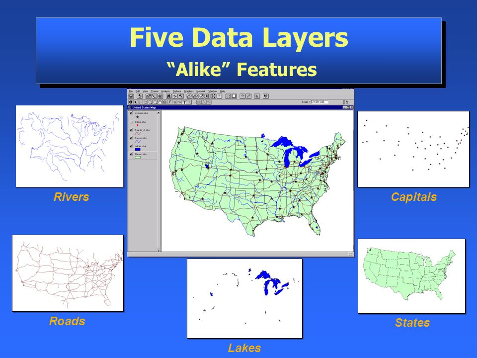 Five Data Layers Alike Features