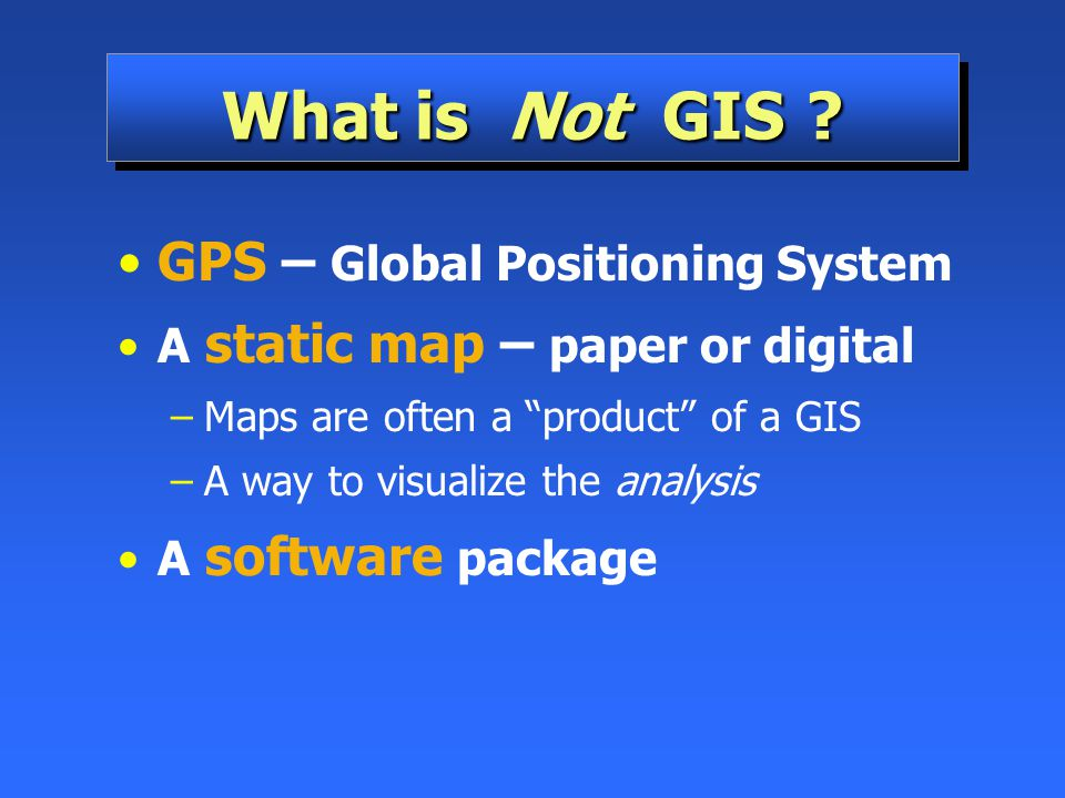 What is Not GIS GPS – Global Positioning System