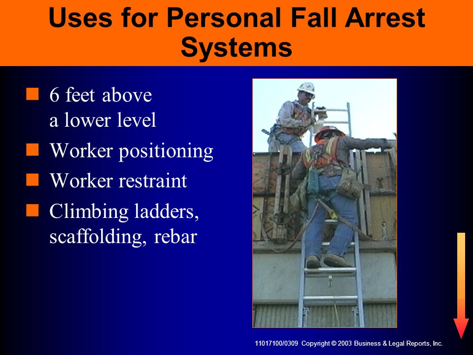 Uses for Personal Fall Arrest Systems