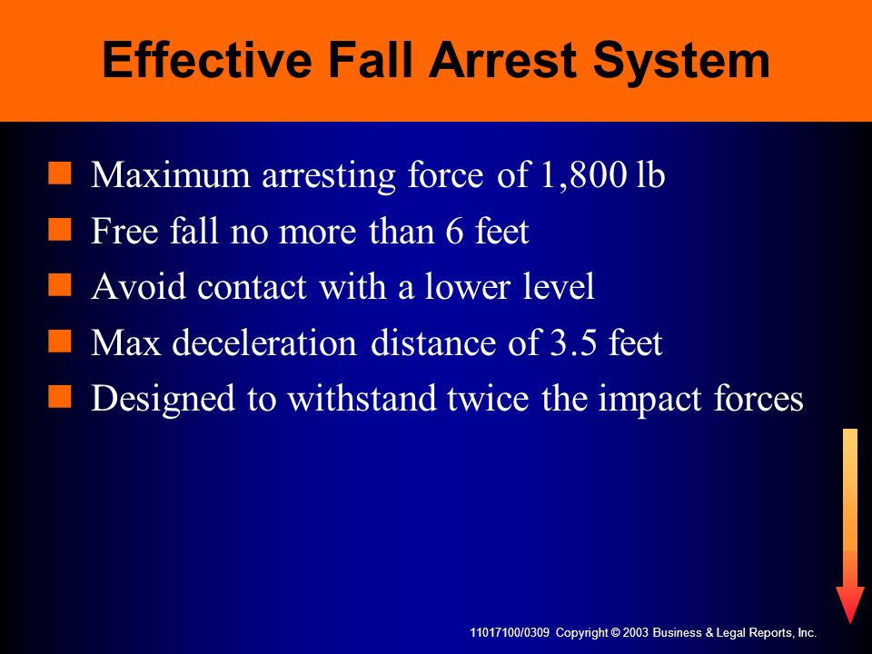 Effective Fall Arrest System