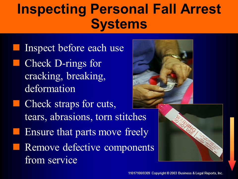 Inspecting Personal Fall Arrest Systems