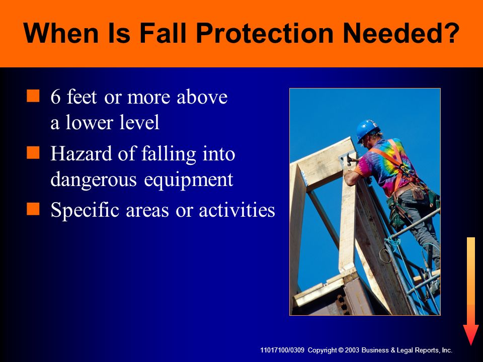 When Is Fall Protection Needed