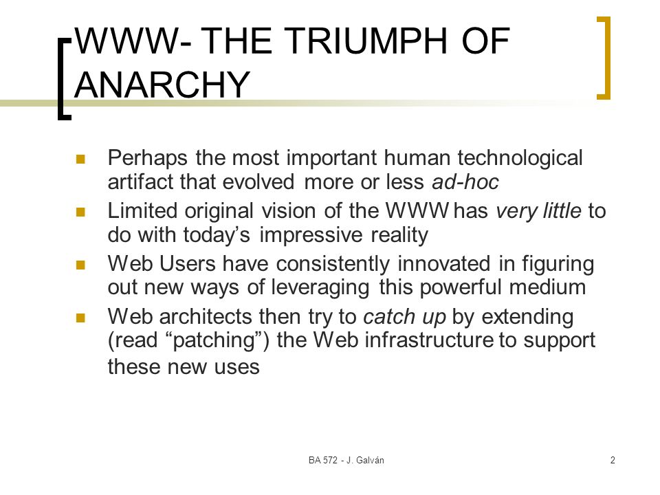 WWW- THE TRIUMPH OF ANARCHY