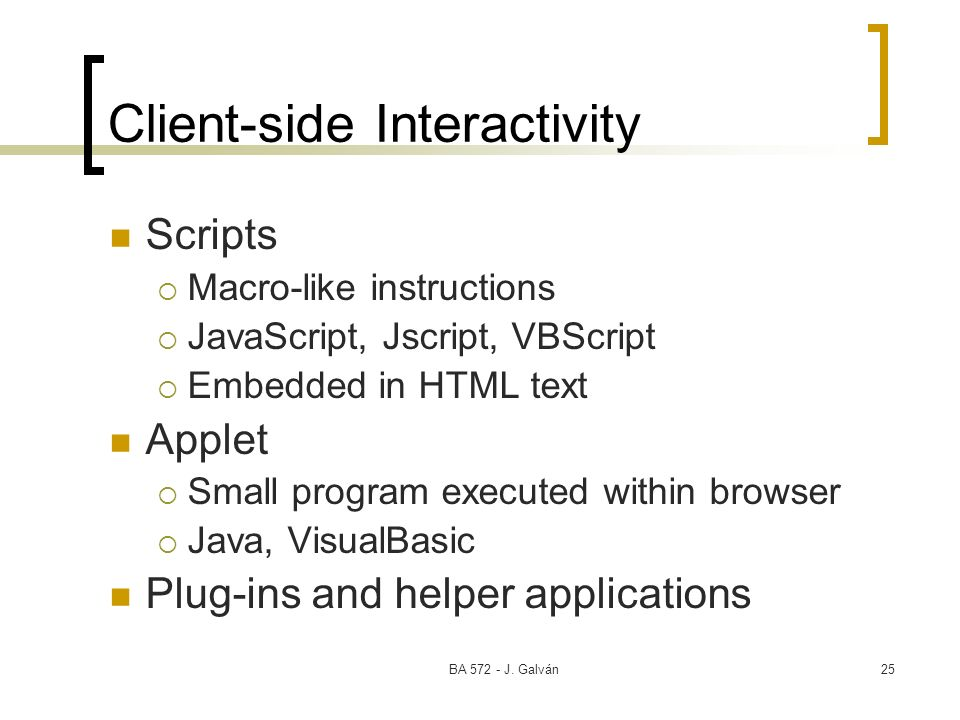 Client-side Interactivity