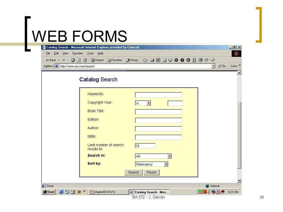 WEB FORMS BA 572 - J. Galván