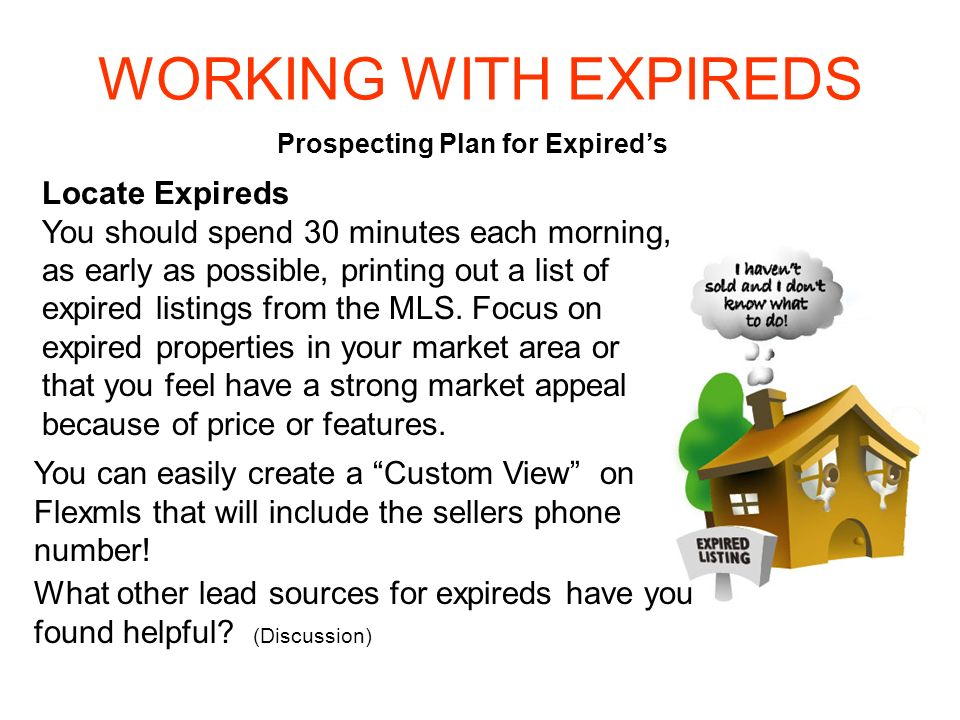 Prospecting Plan for Expired's
