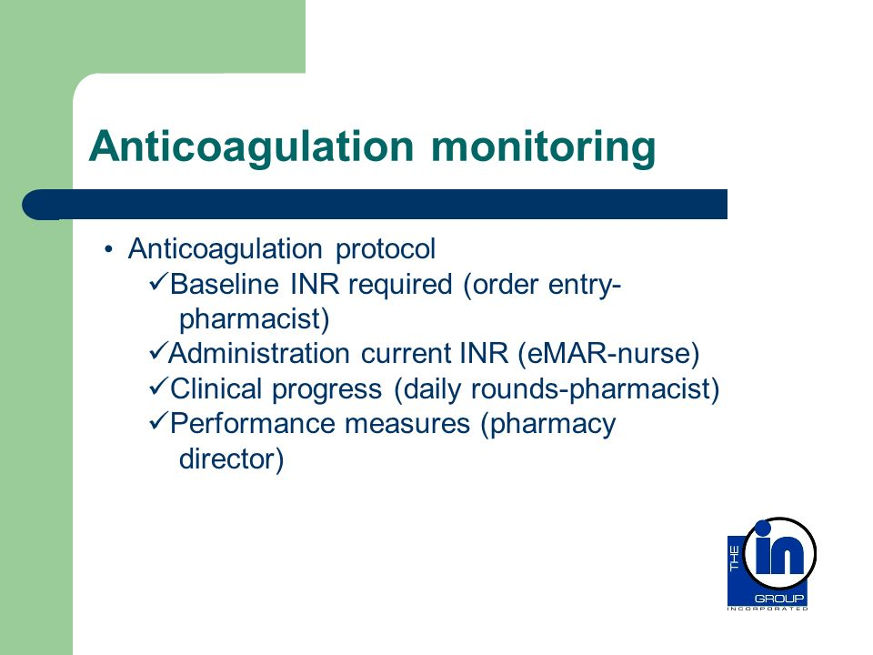 Anticoagulation monitoring
