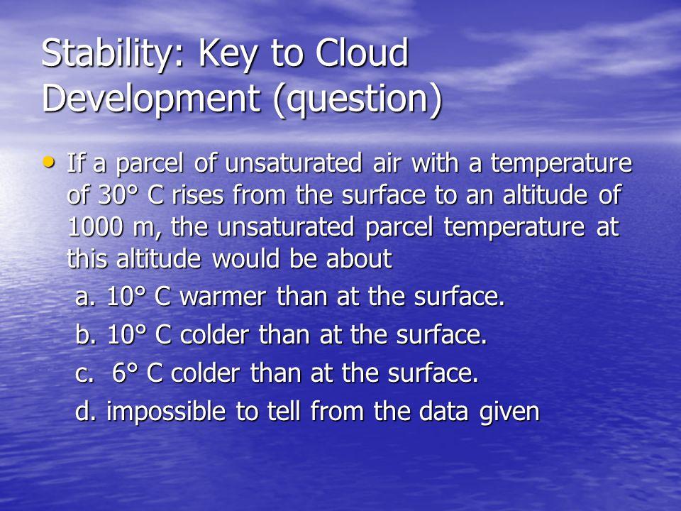 Stability: Key to Cloud Development (question)