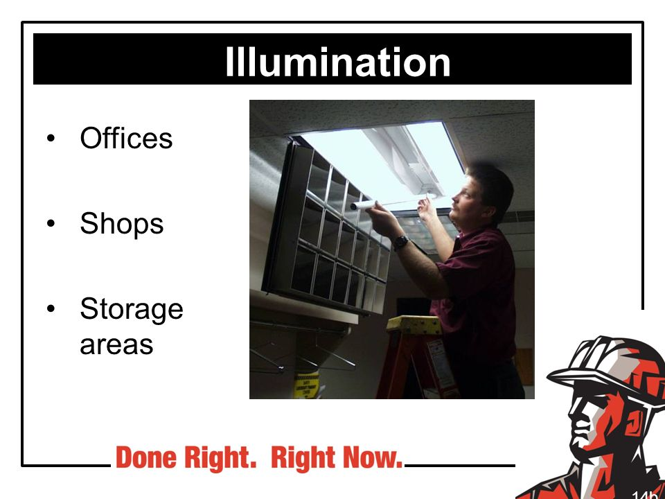 Illumination Offices Shops Storage areas 14b