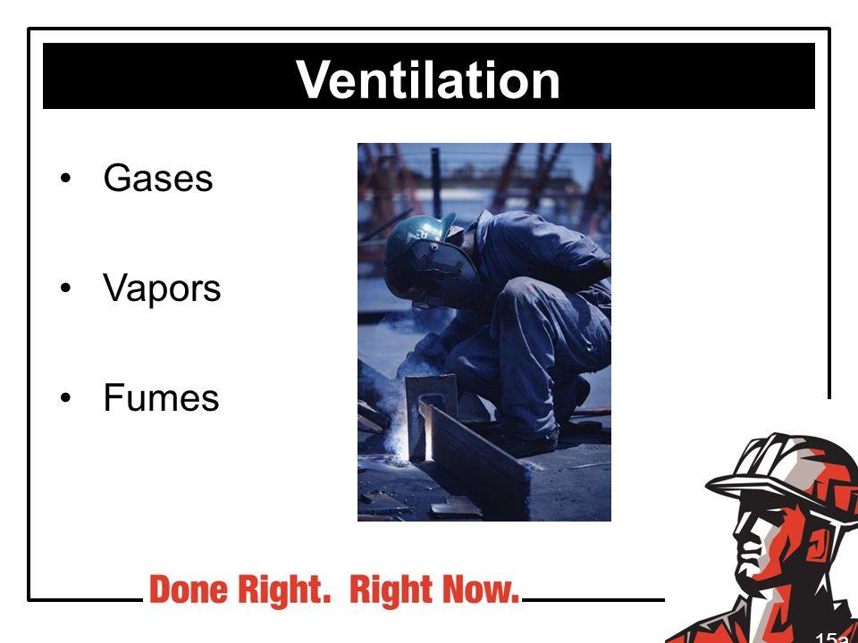 Ventilation Gases Vapors Fumes 15a