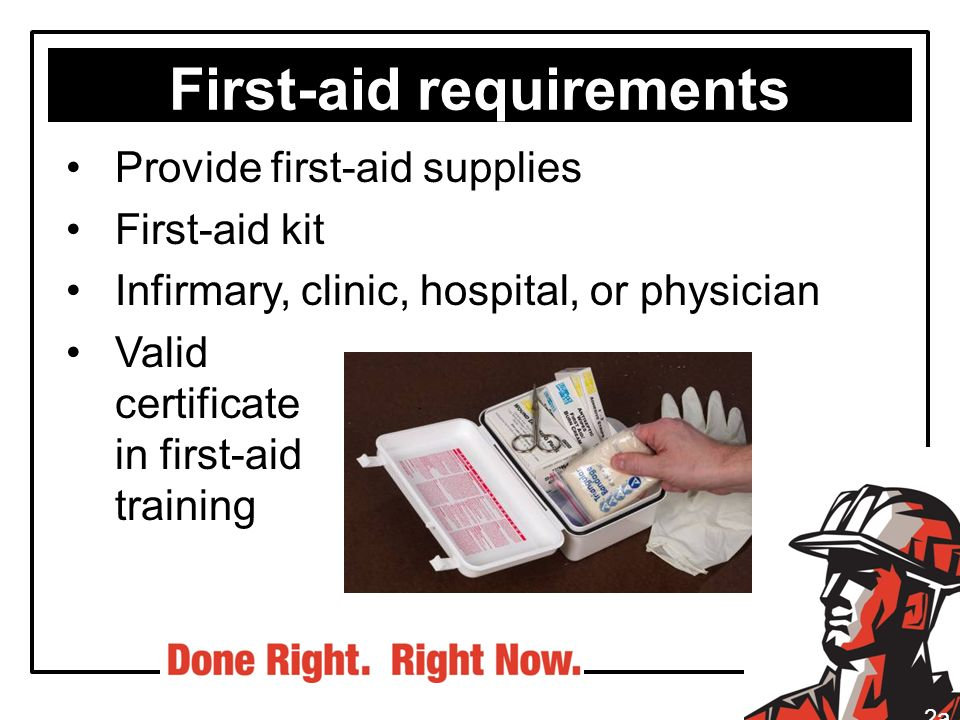 First-aid requirements