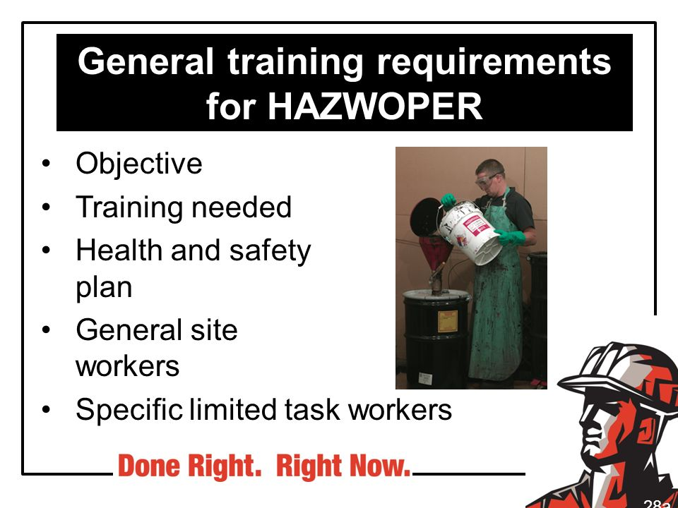 General training requirements for HAZWOPER